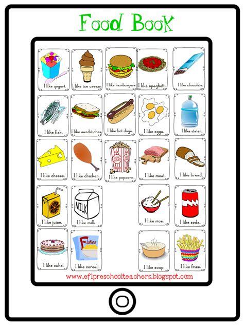 esl efl preschool teachers food theme 848 | food book