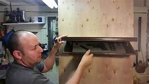How to Make a shelf with a hidden compartment - YouTube