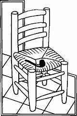 Chair Coloring Pages Furniture sketch template