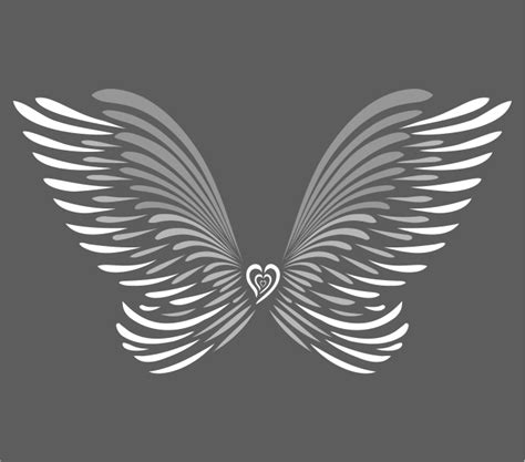 large angel wings wall art stencil