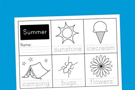 worksheet wednesday summer handwriting paging supermom