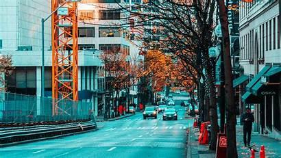Street Buildings Background Road 1080p Traffic Asphalt