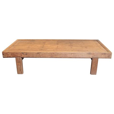 reclaimed elm coffee table antique solid elm wood coffee table circa 1920 at 1stdibs 4528