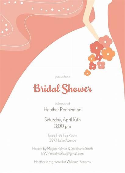 Shower Bridal Clip Clipart Printable Cliparts Invitations