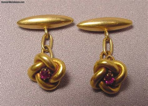 antique deco 18k ruby cufflinks for sale antiques classifieds