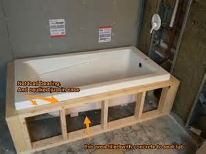 drop in tub tiling lip on frame or on tile