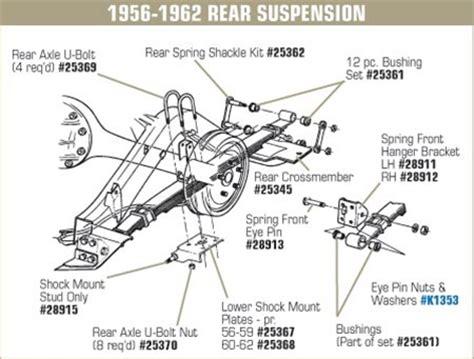 05 Corvette Part Diagram by Corvette Parts C1 1956 1962 Rear Suspension