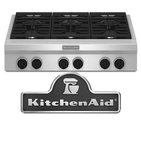 kitchen aid 36 range kitchenaid kgcu467vss 36 quot commercial style built in gas