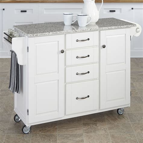 kitchen island cart with granite top home styles create a cart kitchen island with granite top reviews wayfair