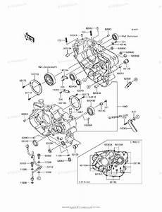 Kawasaki Motorcycle 2017 Oem Parts Diagram For Crankcase