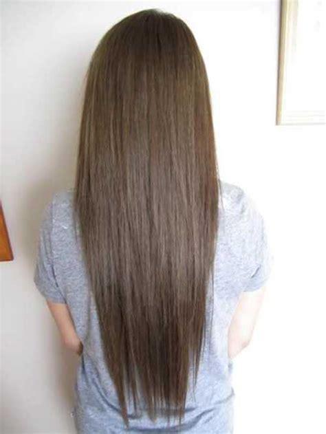 mas de  largos peinados de color marron oscuro largo