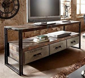 Tv Board Industrial Design : couchtische und tv boards f r den industrial look ~ Michelbontemps.com Haus und Dekorationen