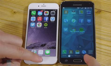 galaxy s5 vs iphone 6 iphone 6 vs galaxy s5 welches smartphone ist schneller