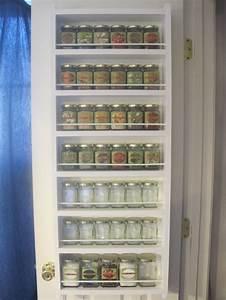 Spice rack behind pantry door organization pinterest for Behind the door pantry organizer