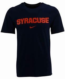 Lyst - Nike Men's Syracuse Orange Wordmark T-shirt in Blue ...