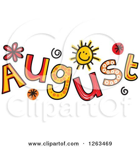 August Month Clip Art Free