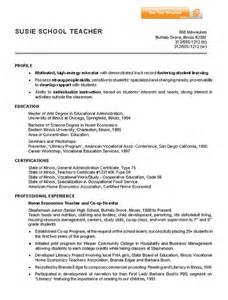 resume for it position sle resume for teaching position sle resumes
