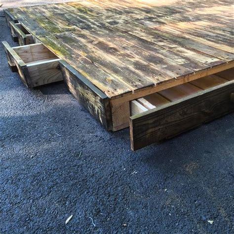 pallet bed platform diy pallet platform bed pallet furniture plans