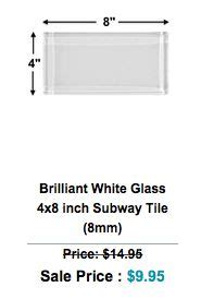 4x8 subway tile home depot 24 best images about glass tiles on mosaics