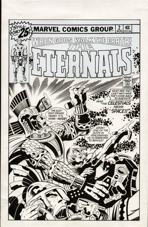 unused Eternals #2 cover by Kirby and Mick Gray, in LEN ...