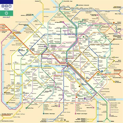 La Carte De Metro Rer by Plan De Metro Rer Voyages Cartes