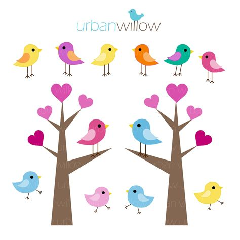 Love Birds In Tree Clipart | Clipart Panda - Free Clipart ...