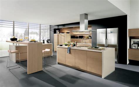 cuisine design cuisine design sans poignées en bois