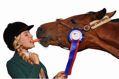 Horse Eating Carrot Transparent Woman Animal Purepng