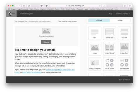 drag and drop custom template mailchimp email marketing mailchimp and free templates levelten