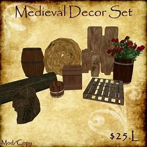Medieval Decor Set For Decorating Tavern Stable Medieval