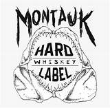 Label Clip Hard Montauk Whiskey Netclipart sketch template