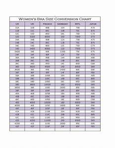 Bra Converter Size Chart Women Bra Size Conversion Chart Free Download