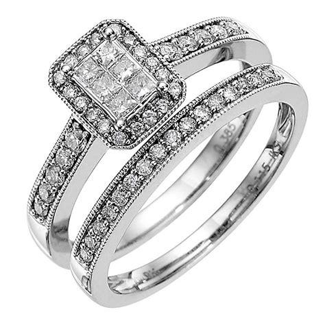 9ct white gold half carat diamond bridal ernest jones