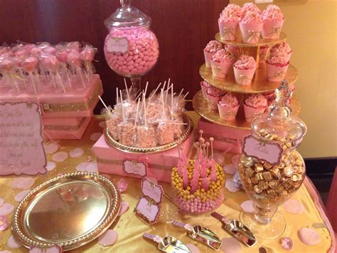 Pink And Gold Baby Shower Baby Shower Ideas Pinterest