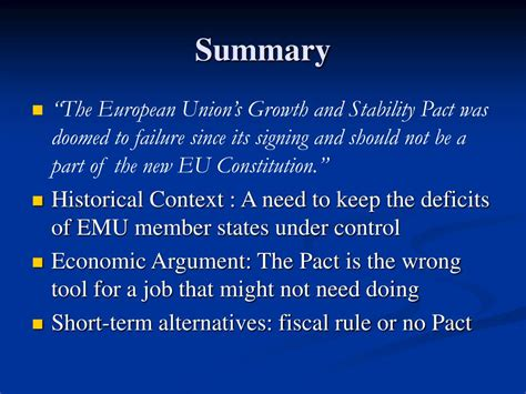 Ppt  The Growth And Stability Pact Powerpoint