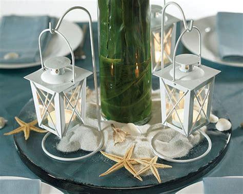 beach theme wedding table centerpiece oosile