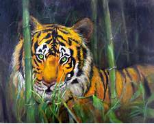 in Jungle Drawing in Luscious Colored Pencil  Original Art Drawing      Jungle Drawing With Animals