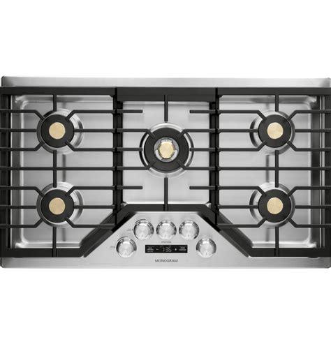 monogram  smart deep recessed gas cooktop natural gas zgueslss ge appliances