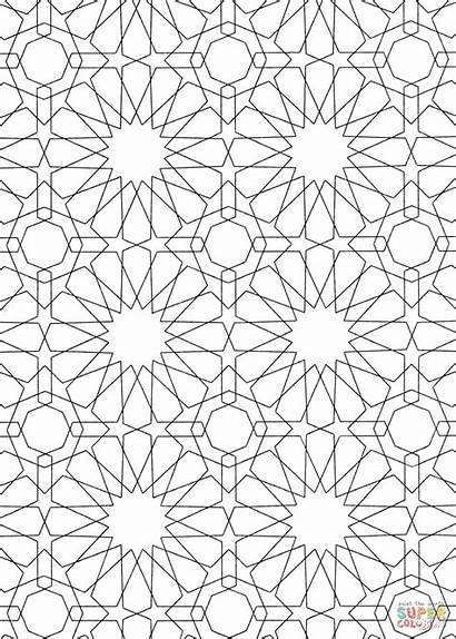 Islamic Coloring Pattern Pages Mosaic Patterns Printable