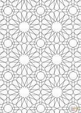 Islamic Coloring Pattern Pages Mosaic Patterns Printable Drawing Roman Colouring Sheets Colour Geometric Designs Numerals Bible Main Alhambra Dot Getcolorings sketch template