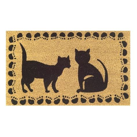doormat cat shop two cats door mat 30x18 free shipping on orders
