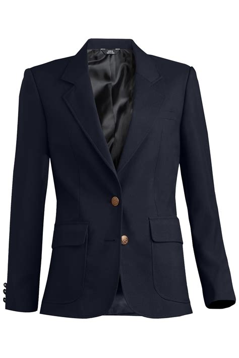 edwards womens uniform blazer medium navy