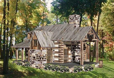 Rustic Vacation Log House Plan-ww