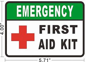 FIRST AID KIT Decals Vinyl Sticker Bus Taxi Sign Store ...