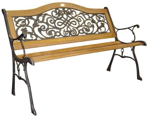 Iron Park Benches by Dc America Wood And Cast Iron Park Bench Ebay