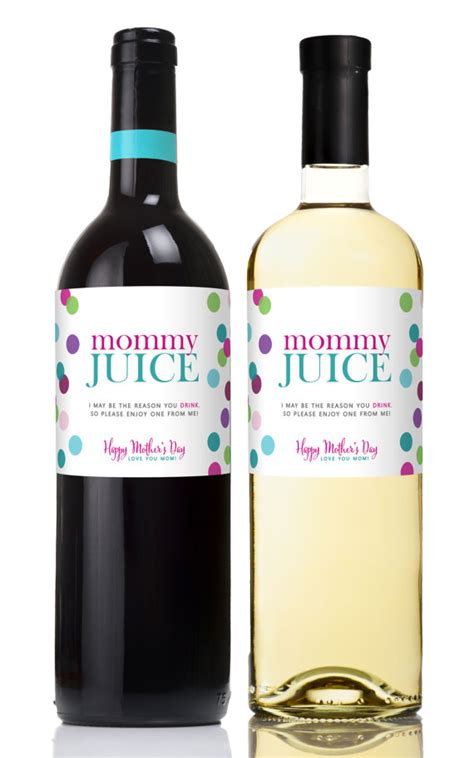 printable  mothers day wine label champagne labels
