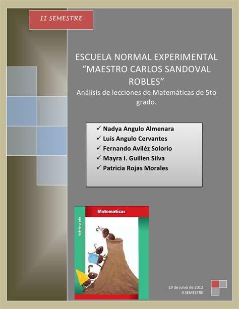 libro matematicas 5 grado contestado analisis libro de matematicas de 5to grado