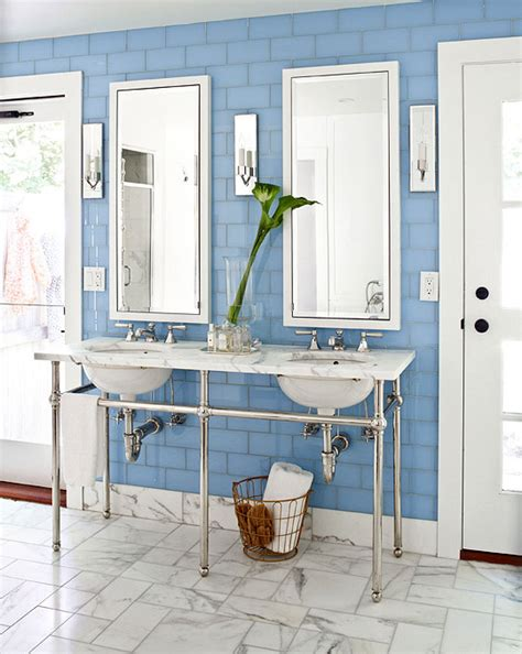 Bathroom Ideas Blue And White by Decorating Ideas For Blue And White Bathrooms