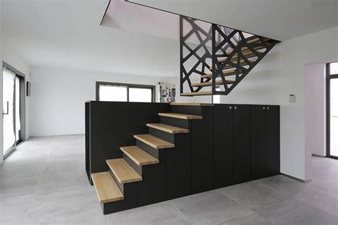 yves denayer stairs escaliers maison meuble tv bois