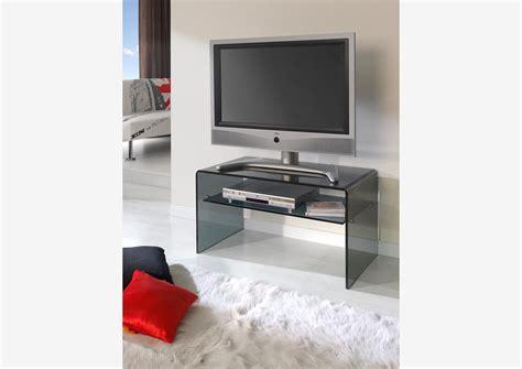 meuble tele en verre acheter votre meuble t 233 l 233 en verre fum 233 noir avec tablette chez simeuble